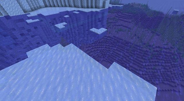 Below Frozen Ocean View
