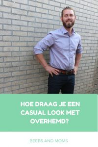 Casual look met overhemd tips