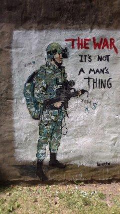 Wall graffitti peckham