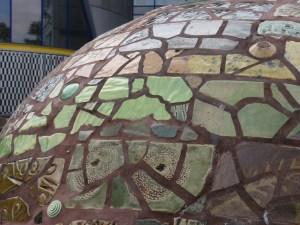 Earth mosaic sculpture Peckham library