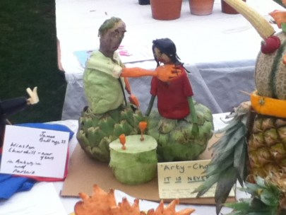 Carved vegetables Lambeth Country Show