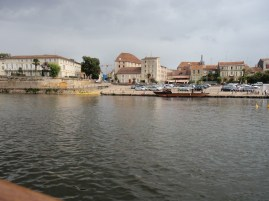 Bergerac from the river Dordogne
