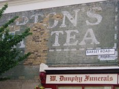 Liptons tea ghost sign Barset Rd Nunhead