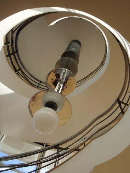 De La Warr Pavilion staircase looking up