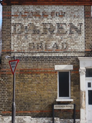 Painted Daren bread sign Avignon Road SE4