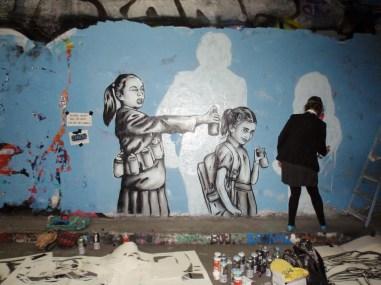 Zabou - work in progress Leake Street March 2015