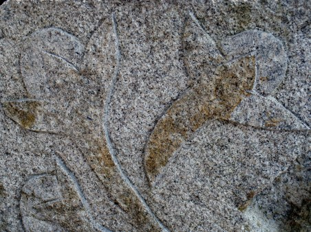 Carvings of cloves in stone at St Katharine's Dock