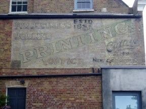 Cutts and Co Printing ghost sign Chadwick Road SE15