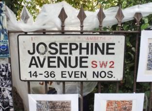 Josephine Avenue SW2 sign