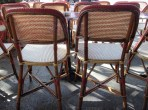 Cafe chairs in montparnasse