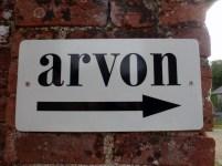 Arvon this way sign