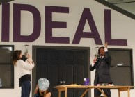 Laurence Llewelyn Bowen in action Ideal Home Show 2016