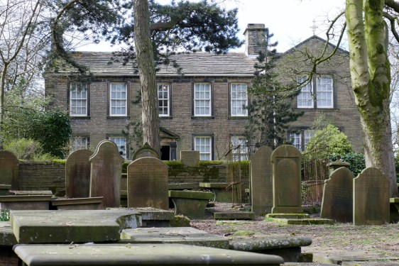 The parsonage viewed from the graveyard, Haworth