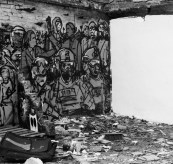 Riots and debris Brick Lane street art