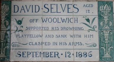 Postman's Park memorial David Selves 1886