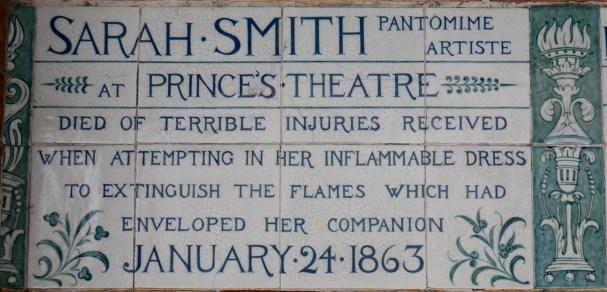 Postman's Park memorial Sarah Smith 1863