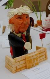 Donald Trump in aubergine