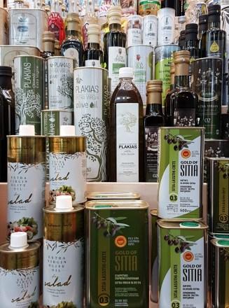 Olive oils Chania market