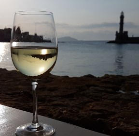 Drink on the waterfront Chania