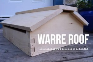 Vented Warre Hive style roof for 8 frame Beecentric Hive boxes. Edmonton, Alberta. Beekeeping Equipment.