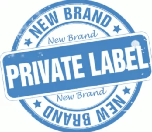 "Label with ""Brand New Private Label"" stamped on it"