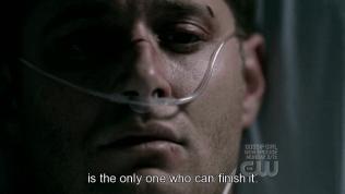 """""""Là người duy nhất có thể kết thúc nó."""" Cas nhìn Dean."""