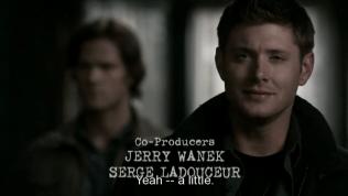 """""""Ừ -- một chút"""" - Dean mỉa mai, lòng chua chát, """"Đám thiên thần các người vừa giết chết Cas của tôi, tôi đương nhiên là không có giận chút nào hết"""""""