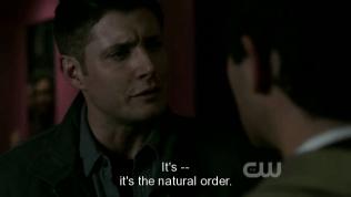 """""""Đó là... chế độ tự nhiên."""" Dean giải thích cho Cas."""