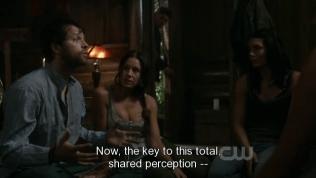 Dean tới lều của Cas TL thì bắt gặp anh đang nói chuyện với một đám em gái xinh tươi.