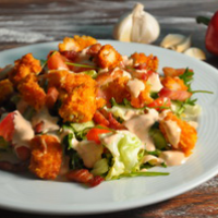 crispy chicken and bacon salad