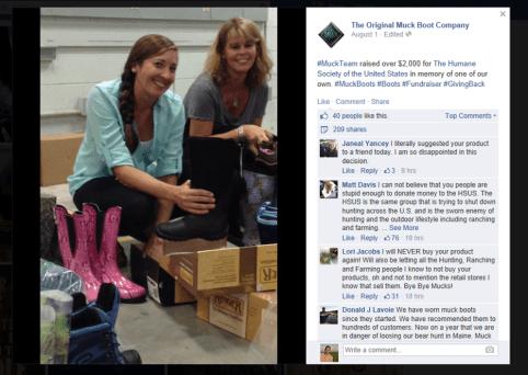 Muck Boot HSUS fundraising