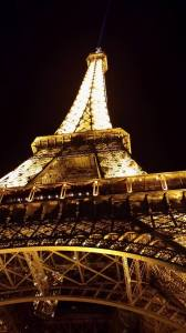 eiffel tower night lights paris france