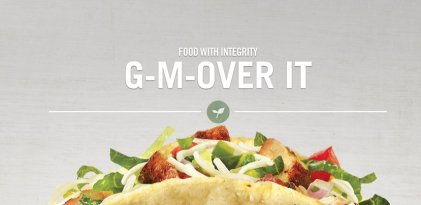 chipotle food with integrity gmo over it