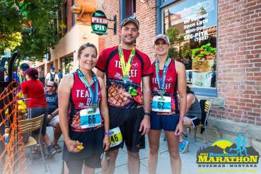 Team Beef at the Bozeman Marathon! These two gals finished their first full marathon!