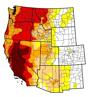 drought monitor western states