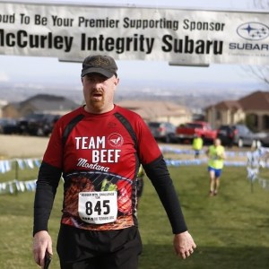 Ed at the finish line of the 2016 Badger Mountain Challenge in Kennewick, WA.