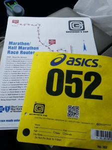 Things getting real as I received my race bib on Friday afternoon.