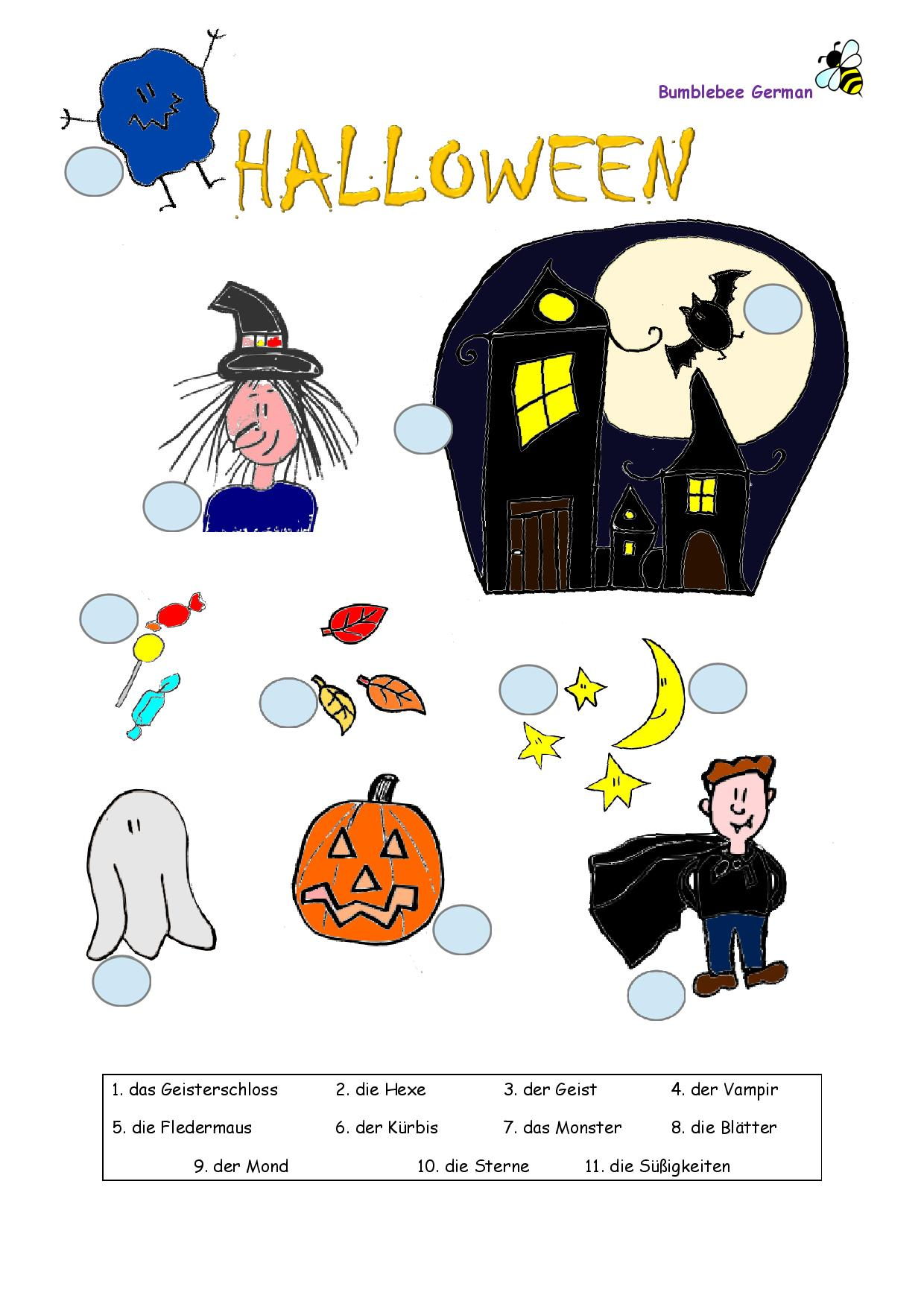 Fun Halloween German Worksheet Enjoy Learning German