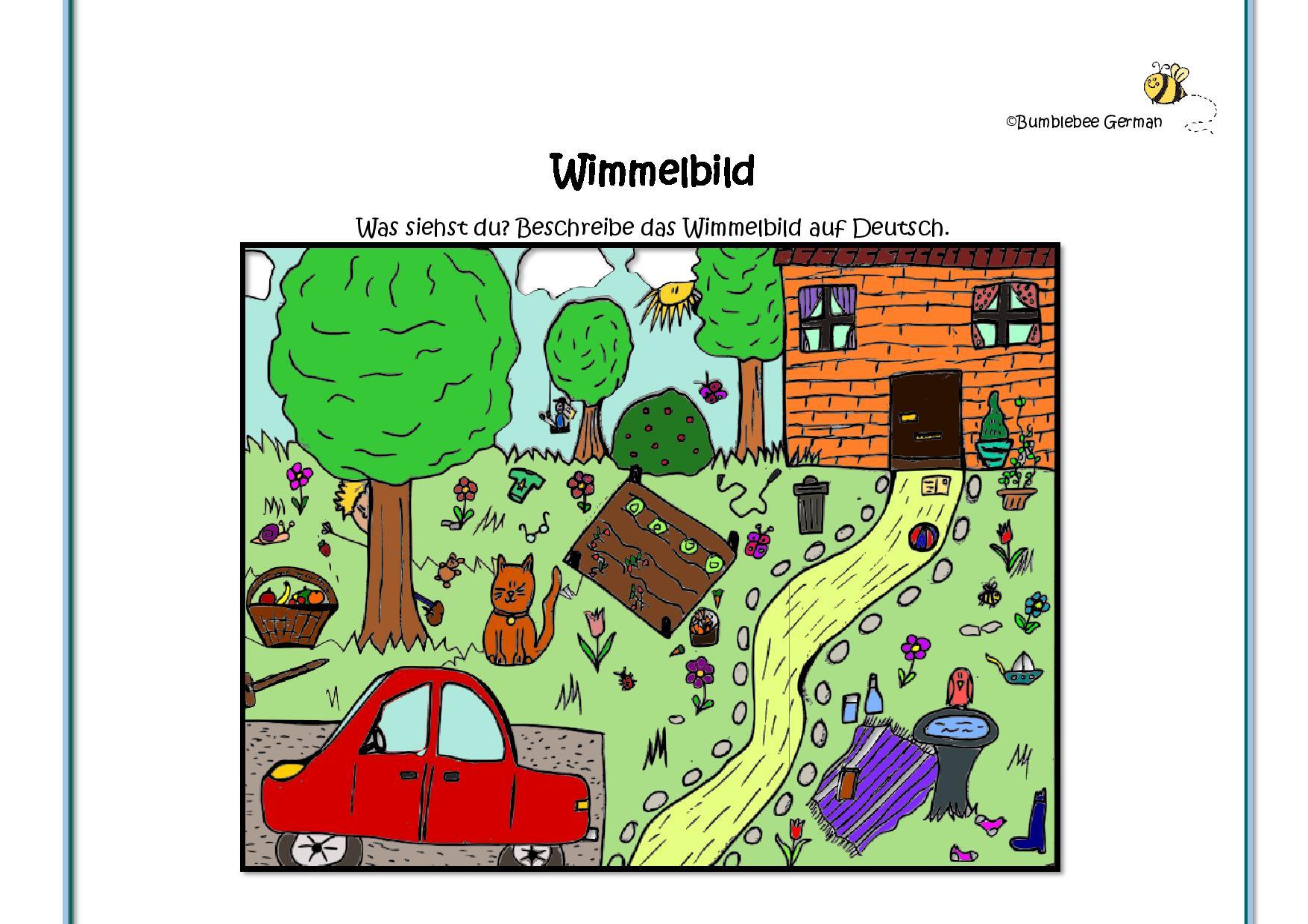 German Worksheets For Kids