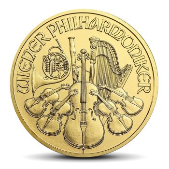 VIENNA PHILHARMONICS 1/2 OZ GOLD