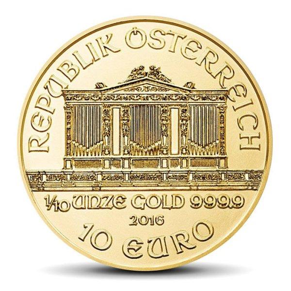 vienna philharmonics 10 Eur 0.1 OZ gold coin
