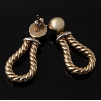 Gold twist earrings Nox