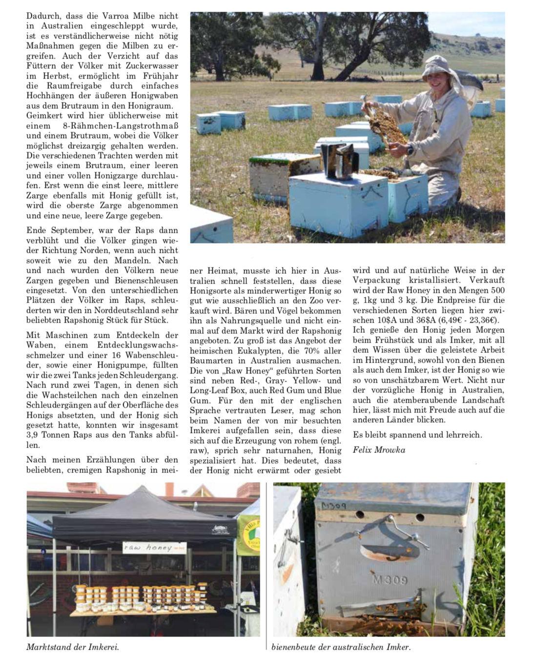 Artikel Der Frühling in Australien Seite 2 Die Neue Bienenzucht Felix Mrowka