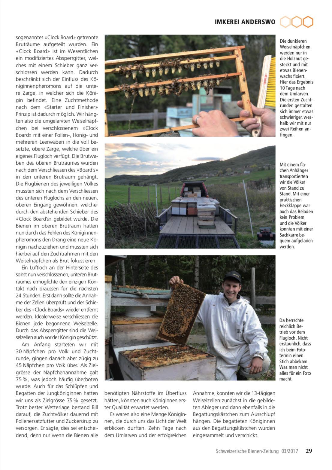 Artikel Imker auf Weltreise-dritte Station: Kanada Seite 4 Schweizerische Bienenzeitung Felix Mrowka