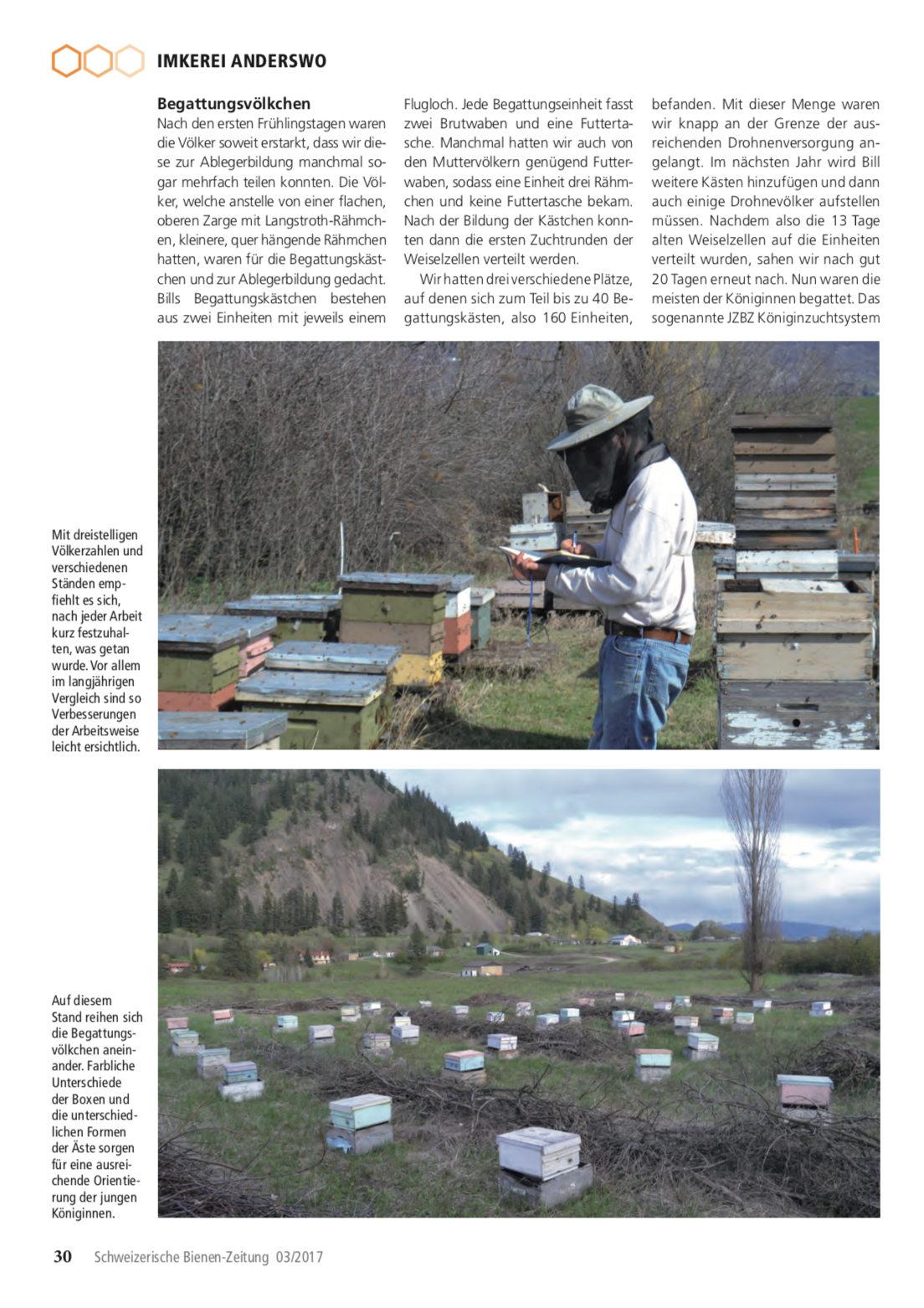 Artikel Imker auf Weltreise-dritte Station: Kanada Seite 5 Schweizerische Bienenzeitung Felix Mrowka