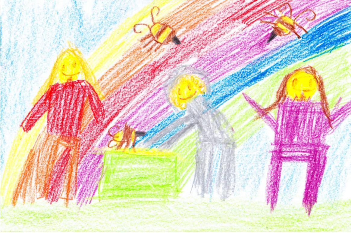 Kinderbild zum Anlass des Imkerbesuchs von Felix Mrowka an der FWS Kaltenkirchen