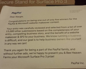 PayPal letter