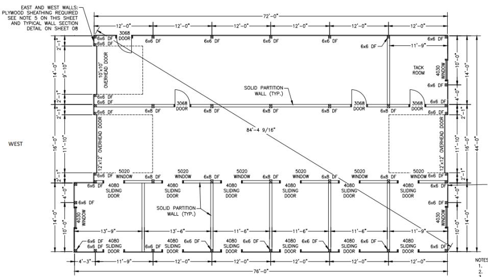 Pole Building Floor Plan