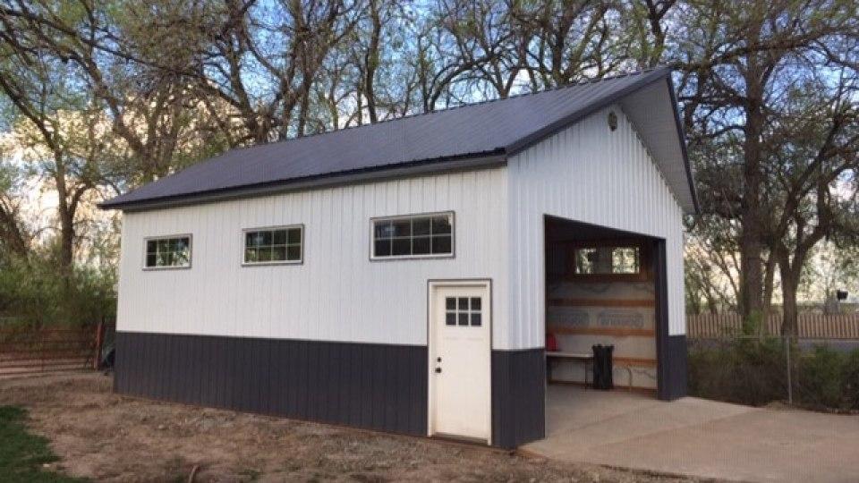 Pole Barn Garage - Beehive Buildings - 22'x30'x14'