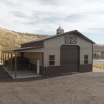 Pole Barn Horse Barn - Beehive Buildings - 30'x40'x16'